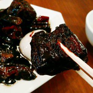 黒酢の真っ黒スブタ