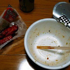 マルちゃん正麺焼きそばを完食