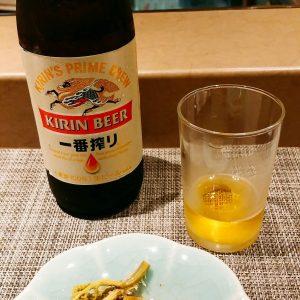 すし源と瓶ビール