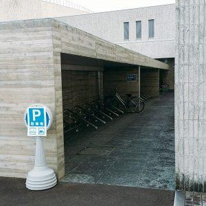 美術館の駐輪場