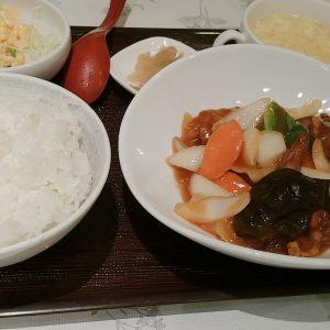 正華の酢豚定食