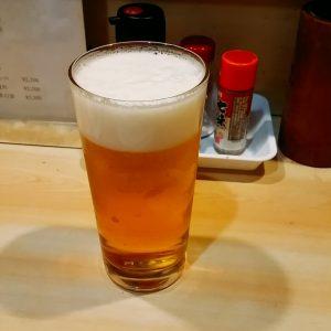 鳥将軍の生ビール