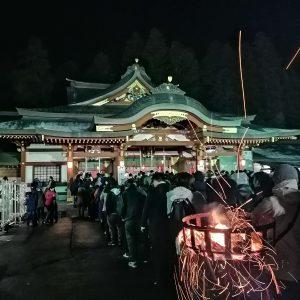 盛岡八幡宮の初詣客