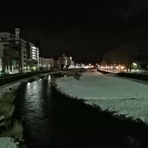 中の橋から見る中津川