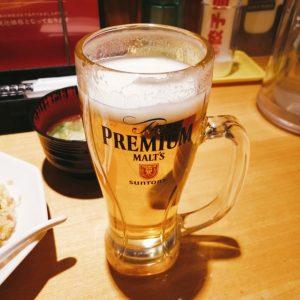 大阪王将のビールはプレモル