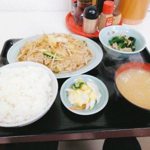 ラーメン北海の肉野菜炒め定食