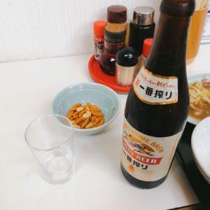 北海で瓶ビール