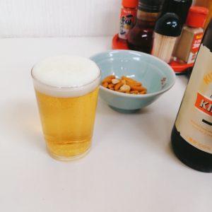 ビールでひとり乾杯