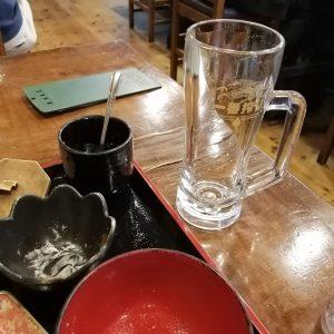 生ビールも全部飲んだ