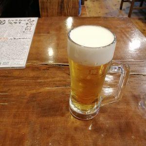 ももどり駅前の生ビール